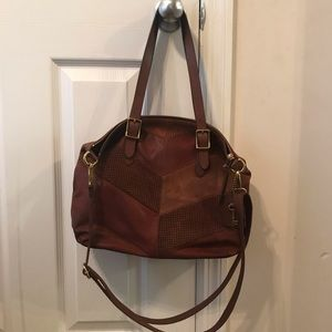 Fossil Kendall tote. Brown leather and suede.